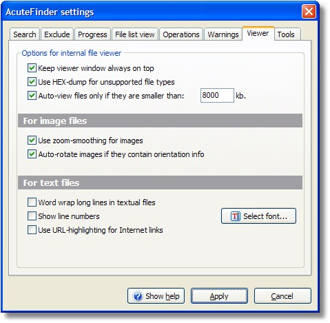 AcuteFinder - User manual